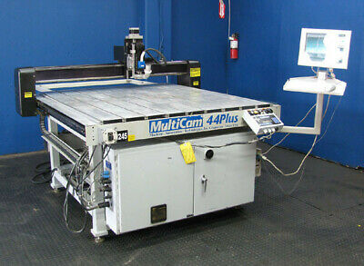MULTICAM 44 PLUS PRECISION CNC ROUTER w VACUUM PUMP