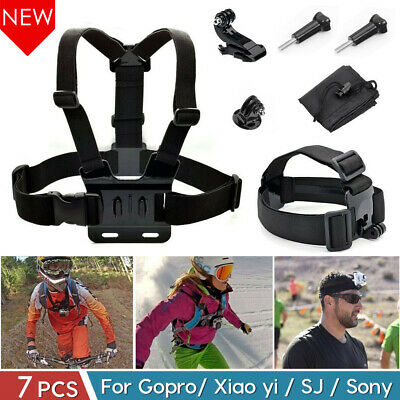 Camera Accessories Set Head Chest Harness Mount For GoPro Hero HD 7 1 2 3 4 5 6