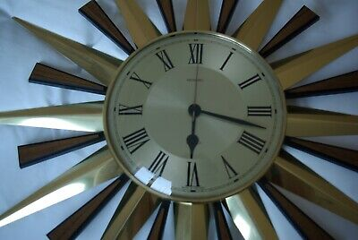 Vintage METAMEC Starburst Sunburst clock