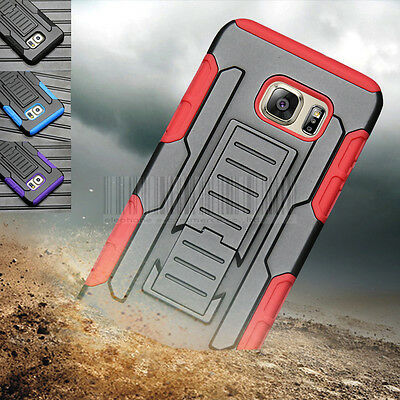 For Samsung Galaxy S6 Edge Plus Rugged Armor Hybrid Case Kickstand Cover Holster