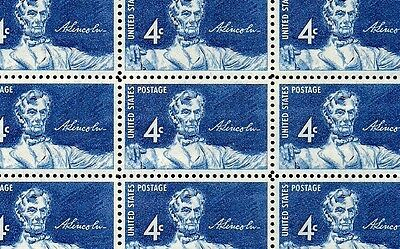 1959 - STATUE OF LINCOLN - #1116 Full Mint -MNH- Sheet of 50 Postage Stamps