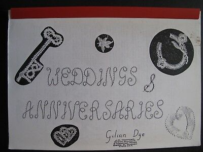 WEDDINGS and ANNIVERSARIES - Bobbin lace pattern collection by GILIAN DYE