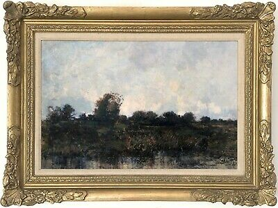 Marshland Antique Oil Painting by William Alfred Gibson (Scottish, 1866–1931)