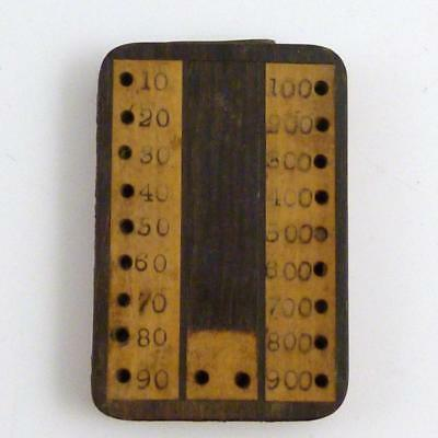 19th CENTURY WOODEN BEZIQUE MARKER