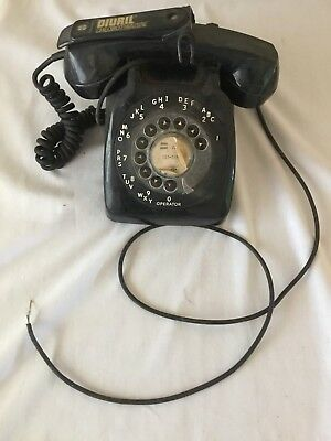 Automatic Electric Rotary Dial Black Diuril Chlorothiazide Telephone Vintage