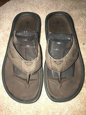 9ddd9dd1059 ABEO MENS Dark Brown Leather Flip Flop Sandals Size 10 -  19.99 ...