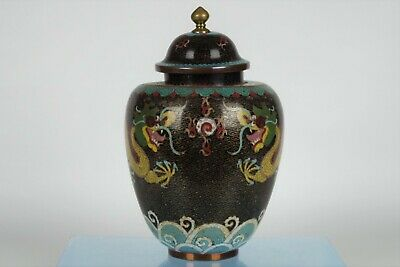 Fine Collectable Chinese Cloisonne Lidded Dragon Pot