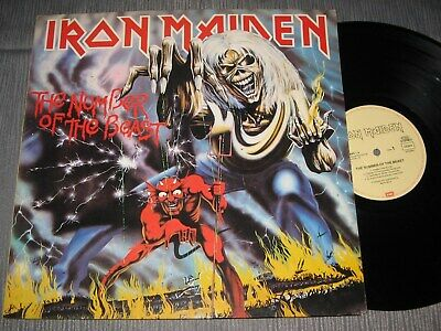 LP: Iron Maiden - The number of the beast, 1982, Re-Issue 1987, 1,--