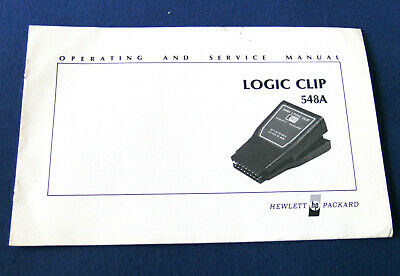 Hewlett Packard Logic Clip 548A operating and service Manual