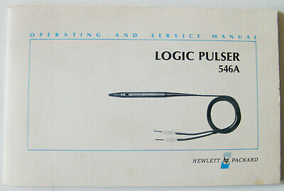 Hewlett Packard Logic Pulser 546A operating and service Manual
