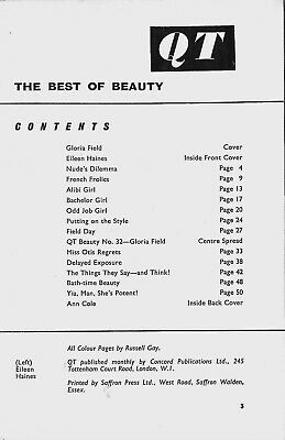 QT No.32 ca.1959:Gloria Field Colour Centrefold by Russell Gay