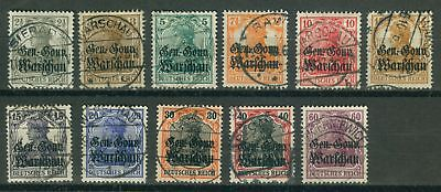 Allemand Occupation Pologne 6 - 16, , , O