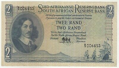 South Africa 2 Rand 1961 Issue Banknote Pick: 105a  In AUNC