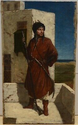 Fine Antique 19th Century Oil On Canvas Painting GEROME