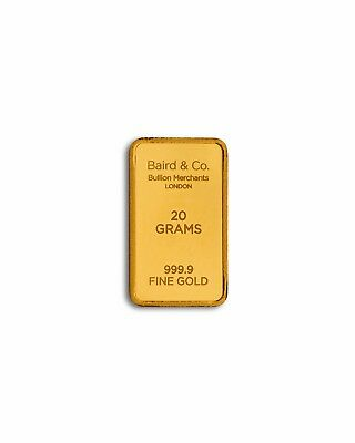 20 Grams Solid Gold Bar Baird & Co - *** Brand New Sealed ***