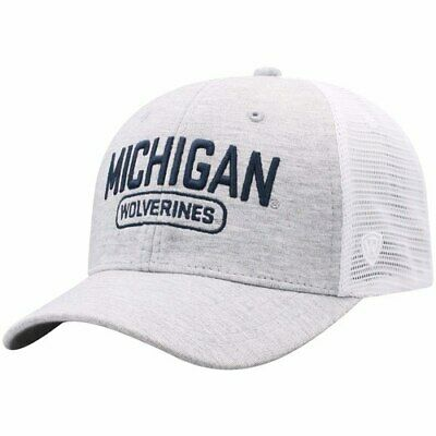new style 97b7e 4a776 Michigan Wolverines Top of the World Top Notch Trucker Snapback Adjustable  Hat -