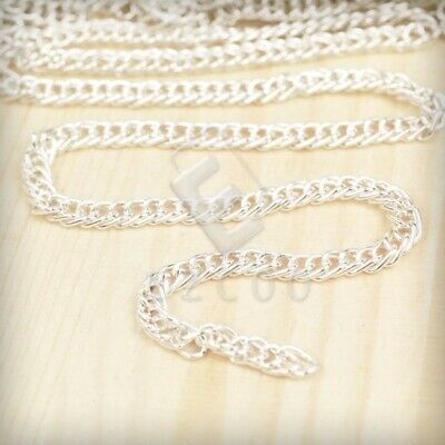 4m Unfinished Bulk Chains Necklace Wholesale Silver Curb Chain 2.8x1.4mm YB