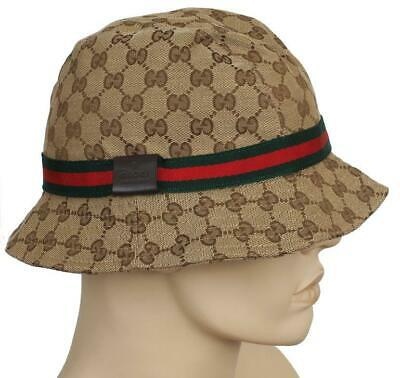 31d90c834d1 New Gucci Beige Guccissima Gg Canvas Web Detail Fedora Bucket Hat M medium  Unis