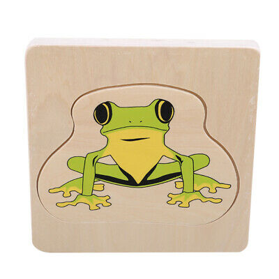 Development Baby Toys 3D Wooden Puzzle Cartoon Learning Educational Kid Toy
