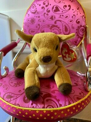 05e80d7efd3 Ty Beanie Baby Whisper The Deer Retired 1998 Plush Toy Collectible MWMT
