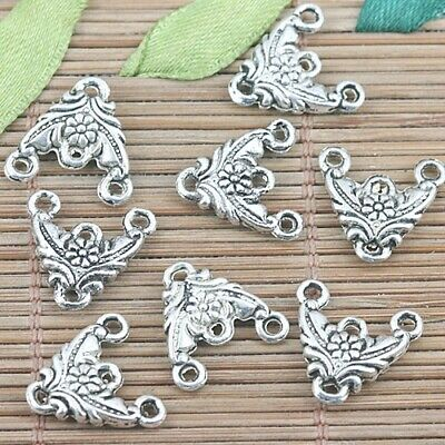 20pcs Tibetan Silver triangle shape flower connector EF1272