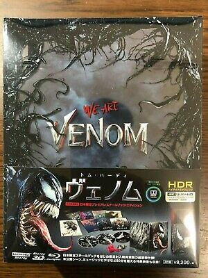 Venom Premium Steel book Edition 4K ULTRA HD Blu-ray Japan Limited Pre-order F/S