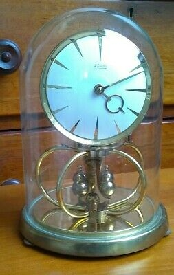 Large Kundo Glass Dome Clock by Kieninger & Obergfell. West Germany 215mm high