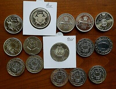 1986 to 2018 Two Pound coins - Bright Uncirculated or Proof