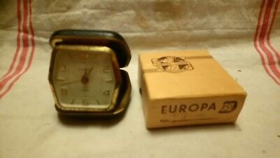 Vintage Europa 2 Jewels Alarm Clock For Spares or repairs