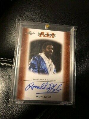 Ron Lyle 2010 Fleer Certified Hand Signed Autographed Muhammad Ali Card Oau-25