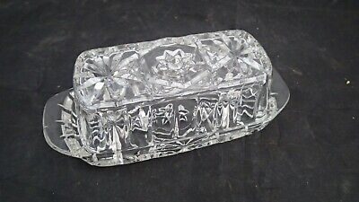 Anchor Hocking Covered Butter Dish Early American Prescut Star of David