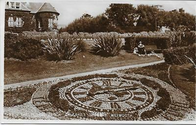 Weymouth.The Floral Clock Greenhill Gardens -1937 Used RPPC (Pub:Unknown)-VGC !