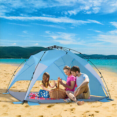Portable Automatic Pop Up Kids Beach Tents Camping Outdoor UV Protection Shade