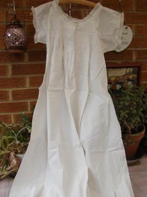 Antique Cotton Nightdress,Chemise,Petticoat~Torchon Lace~Pintucks~Embroidery