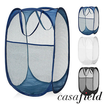 Collapsible Mesh Pop Up Laundry Clothes Hamper Basket - Bathroom/Kids/Nursery