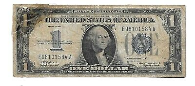 1934  $1 U.S. Silver Certificate Note  Nice FUNNY BACK  MONOPOLY Note