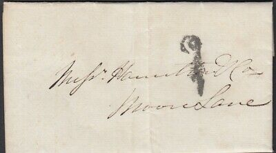Ireland 1834 Dublin Penny Post to ?Moon Lane - re curate of Clones - entire