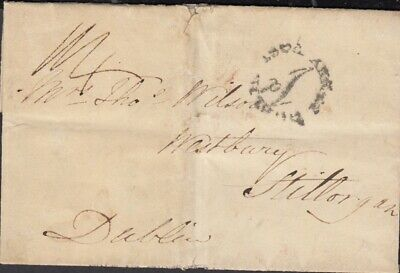 GB/Ireland 1839 Brighton UK to Dublin Penny Post to 'Westbury' Stillorgan