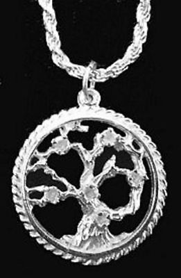 LOOK Celtic Family Tree of Life Pendant Silver charm Jewelry