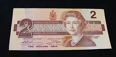 1986  Two Dollar Bank Note