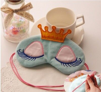 A91 Blue Cute Frog Originality Animal Sleeping Eye Mask Travel Eyepatch A