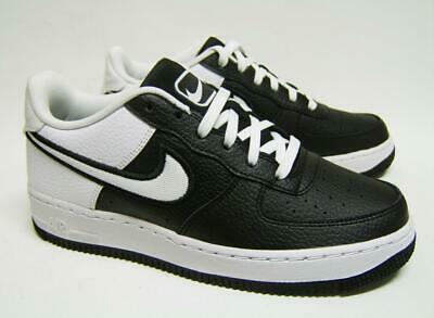 super popular 55e24 a72bd Nike Air Force 1 LV8 1 GS Black White Leather Juniors Boys Girls AV0743 001