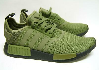 a4b4b4ef9 Adidas Nmd R1 Boost Olive Army Cargo Khaki Green Black AQ1246 Mens Trainer  UK 10
