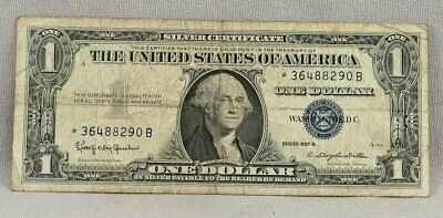 1957-B $1 United States Silver Certificate STAR Note!