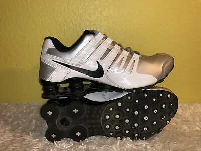 820cc796c74 Women s Nike Shox Current Athletic Shoes 639657-021 Size 7.5 White   Silver