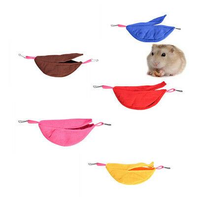 Hamster Banana Shaped Hammock Small Pet Gerbil Rat Mouse Hanging Nest Bed Toy BR