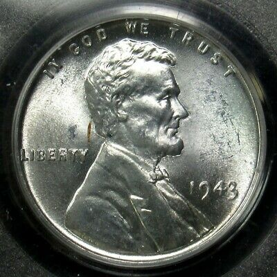1943 Lincoln Wheat Steel Cent - PCGS MS65 - Certified Gem Uncirculated
