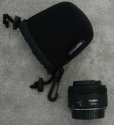 Canon EF 50mm f/1.8 STM Lens - EXC+ with Lens Caps & Soft Pouch!