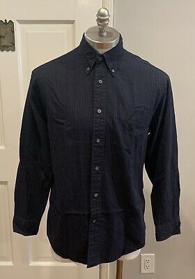 Casual Button-down Shirts Honest Armani Exchange Mens Shirt Button Down Long Sleeve Size L Red Blue Shirts