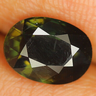 Cute 2.95 Ct Natural Unheated Greenish Yellow KORNERUPINE Oval  Gem @ See Vdo!